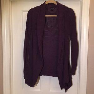 Express Purple Lounge Sweater